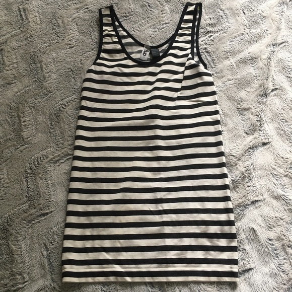 Fluo striped tank size small
